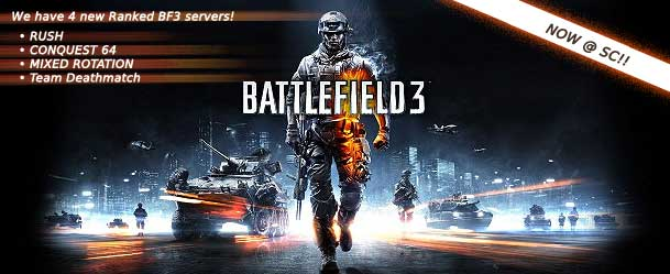We have new ranked BF3 servers, come chat about BF3 with SC here!